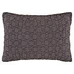 Bridge Street Reese Velvet Oblong Throw Pillow in Mink