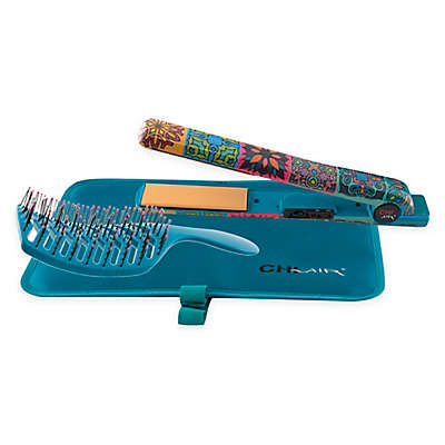 CHI Air Expert Classic Graffiti 1-Inch Tourmaline Ceramic Flat Iron in Blue