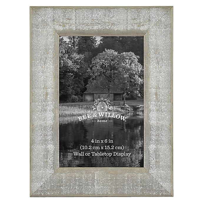 Alternate image 1 for 4-Inch x 6-Inch Rustic Wooden Picture Frame in Austin Grey