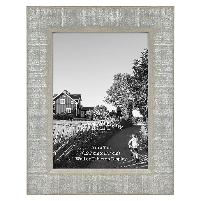 Alternate image 1 for 5-Inch x 7-Inch Rustic Wooden Picture Frame in Austin Grey