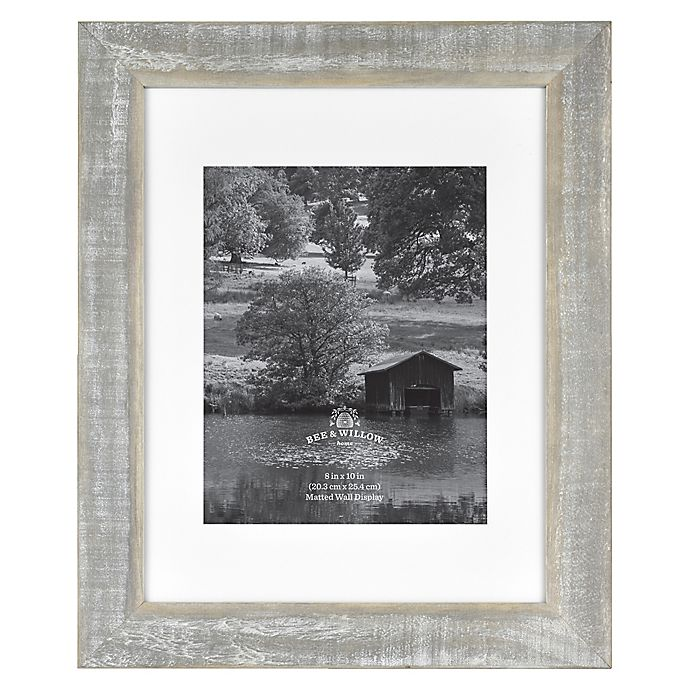 Alternate image 1 for 8-Inch x 10-Inch Rustic Matted Wooden Picture Frame in Austin Grey