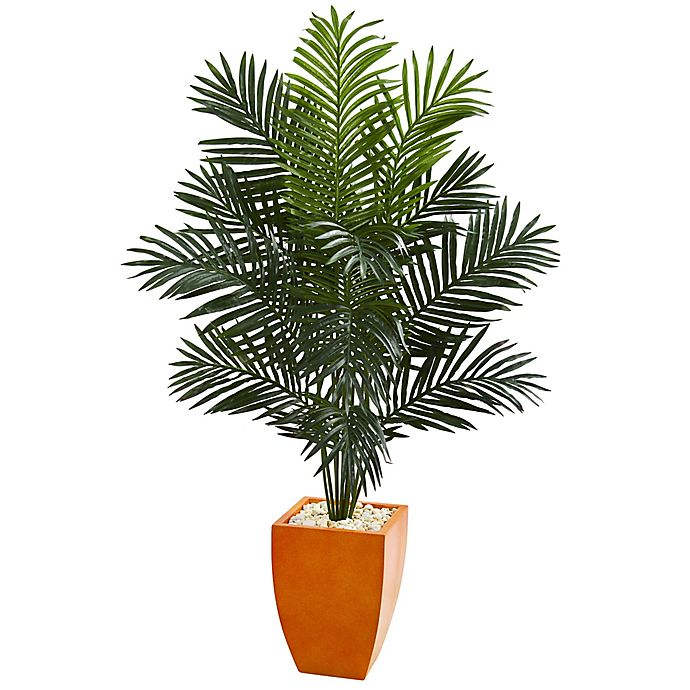Alternate image 1 for Nearly Natural Paradise 5.5-Foot Palm Tree in Orange Planter