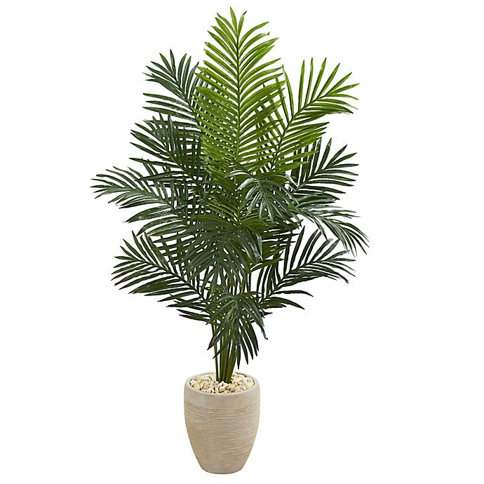 Nearly Natural 5 5 Foot Artificial Paradise Palm Tree In Planter Bed Bath Beyond