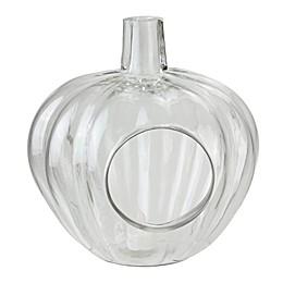 Northlight 10.5-Inch Glass Pumpkin Shaped Pillar Holder