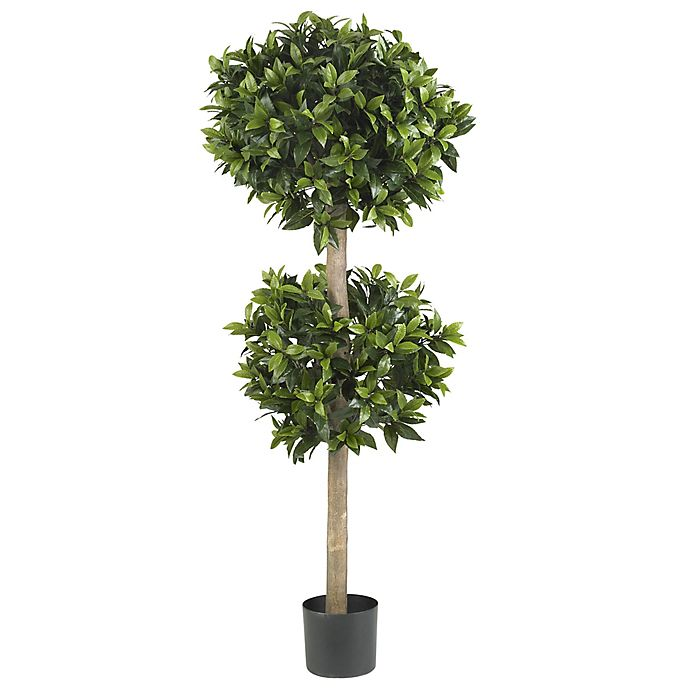 Alternate image 1 for Nearly Natural 57-Inch Sweet Bay Double Ball Topiary Artificial Tree