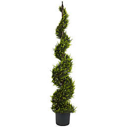 Nearly Natural 5-Foot Cypress Spiral Artificial Tree