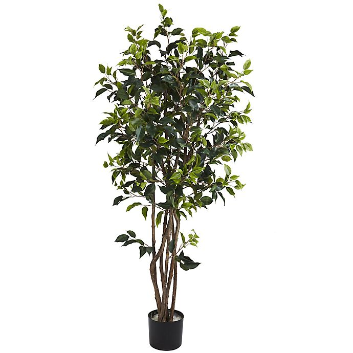 Alternate image 1 for Nearly Natural 5-Foot Ficus Bushy Artificial Tree
