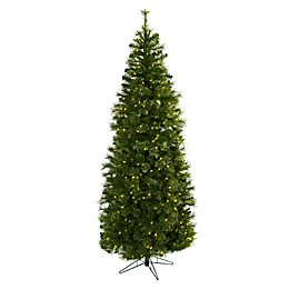 Nearly Natural 7.5-Foot Pre-Lit Cashmere Slim Artifical Christmas Tree