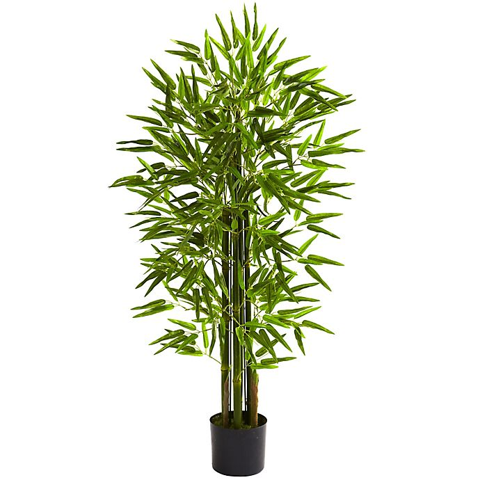 Alternate image 1 for Nearly Natural 48-Inch Indoor/Outdoor Artificial Bamboo Tree with Black Planter