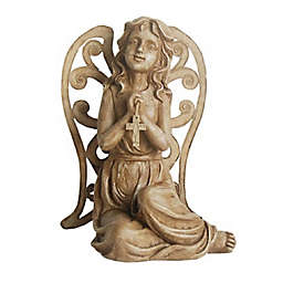 Northlight Inspirational Sitting Angel Statue in Brown