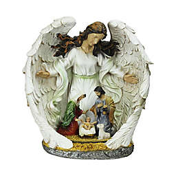 Guardian Angel and the Holy Family Nativity Scene Figurine