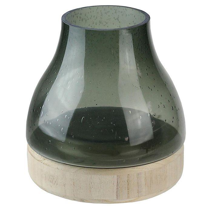 Alternate image 1 for Northlight Bubble Glass Pillar Candle Holder in Grey