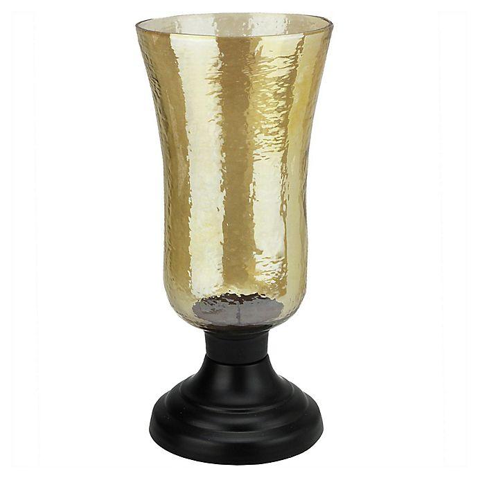 Alternate image 1 for Northlight Golden Luster Candle Holder with Black Base