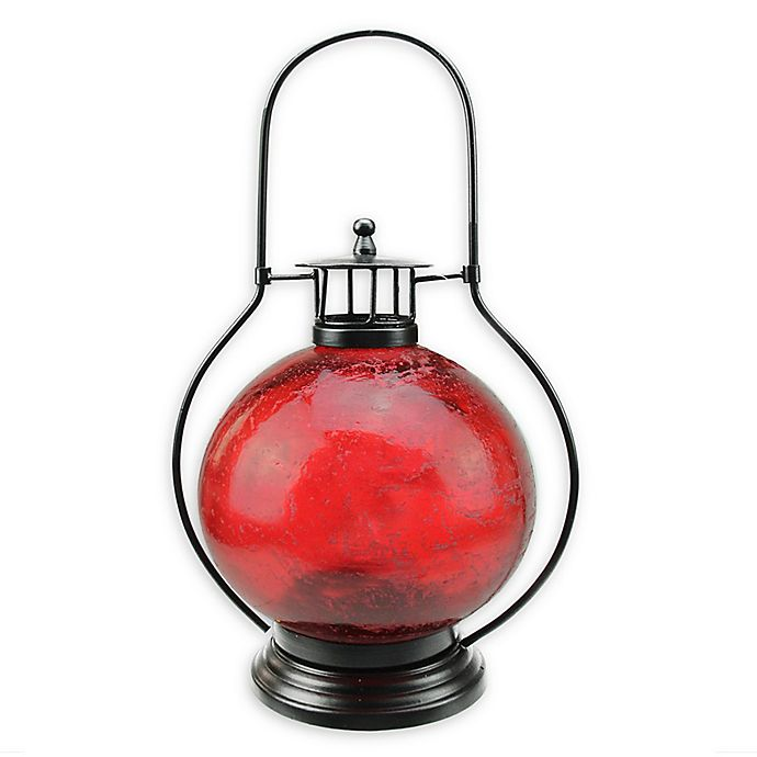 Alternate image 1 for Northlight Artifact Candle Lantern in Distressed Red