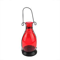 Northlight 1-Votive Transparent Vase Lantern in Red