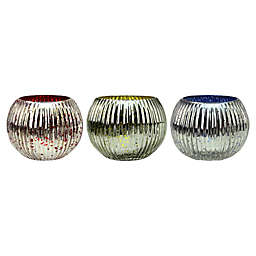 Northlight Round Ribbed Mercury Glass Votive Candle Holders(Set of 4)