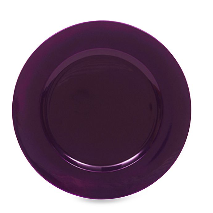 Alternate image 1 for Charge It by Jay! Purple Round Charger Plates (Set of 8)