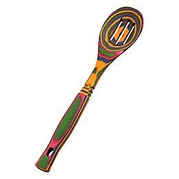 Island Bamboo Rainbow Pakka Wood Slotted Spoon