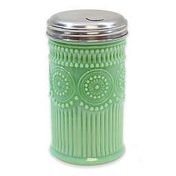 Tablecraft Jadeite Glass Sugar Cellar with Lid in Green