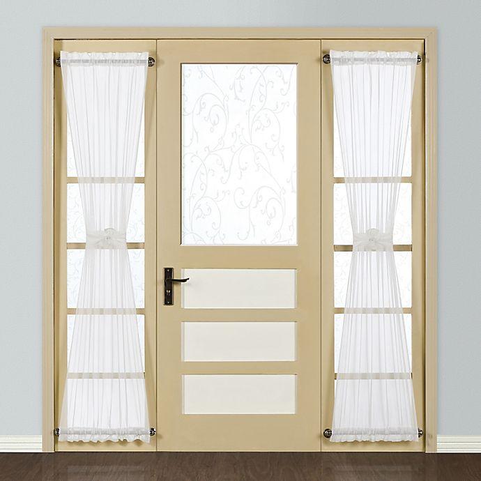 Alternate image 1 for Monte Carlo Sheer Voile Rod Pocket Side Light Curtain Panel in White