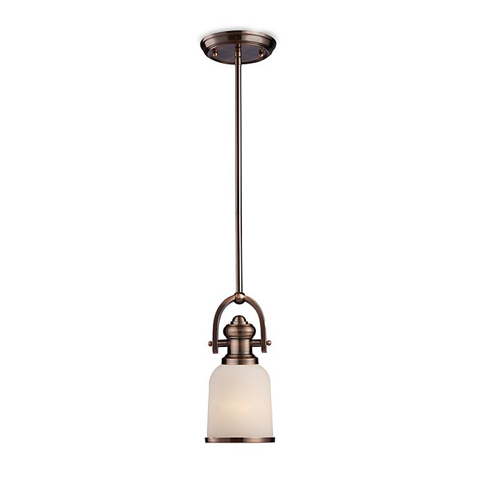 Alternate image 1 for ELK Lighting Brooksdale One Light Mini-Pendant in Antique Copper