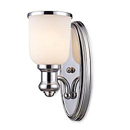 ELK Lighting Landmark Lighting Brooksdale 1-Light Sconce in Polished Chrome