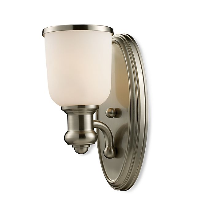 Elk Lighting Sconce: ELK Lighting Brooksdale 1-Light Sconce In Satin Nickel