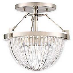 Minka Lavery Atrio Semi Flush Ceiling Light in Brushed Nickel