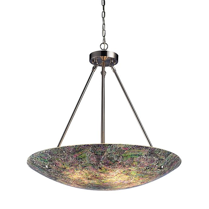 Elk Lighting Online: ELK Lighting Avalon 5-Light Pendant In Satin Nickel Green