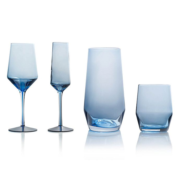 Alternate image 1 for Mikasa® Swirl Edge Wine & Bar Collection in Blue