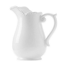 Modern Farmhouse Home Pitcher in White
