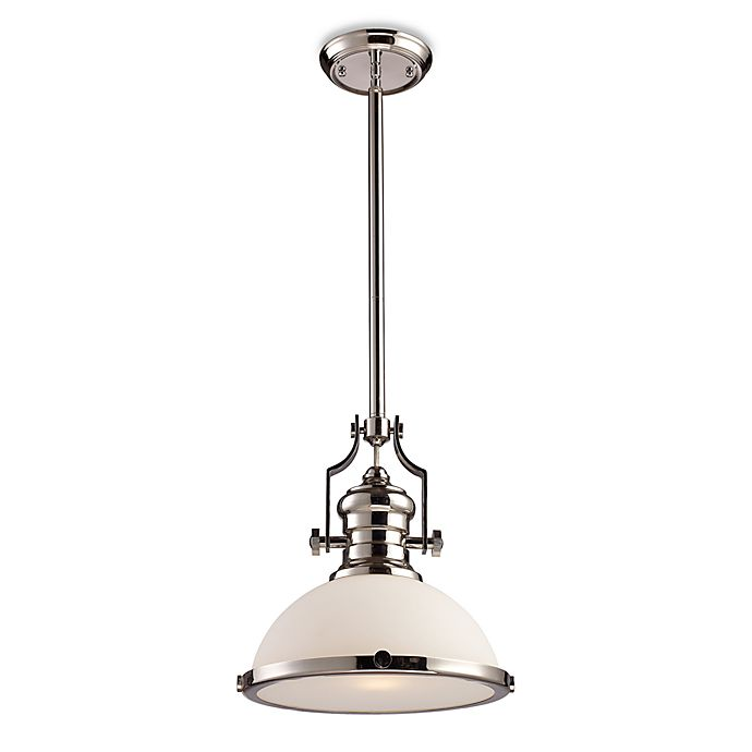 Elk Lighting Online: ELK Lighting Chadwick 1-Light Pendant In Polished Nickel W