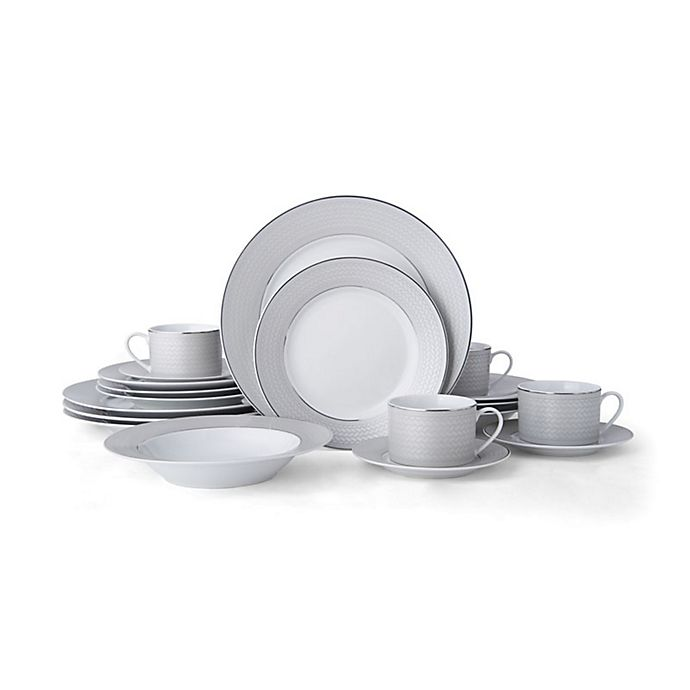Alternate image 1 for Mikasa® Percy Grey 20-Piece Dinnerware Set