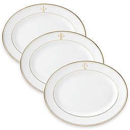 Lenox® Federal Gold™ Monogrammed Block Letter 13-Inch Oval Platter