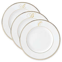 Lenox® Federal Gold™ Monogrammed Script Letter Dinner Plate
