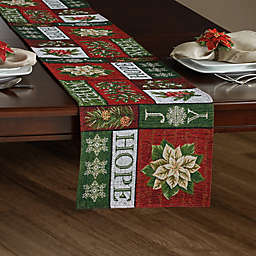 Holiday Patchwork Tapestry Table Runner