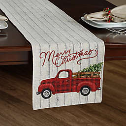 Holiday Plaid Tapestry Truck Table Runner