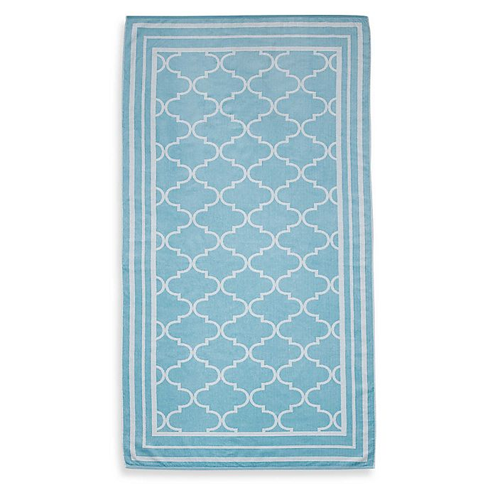 Fretwork Oversized Beach Towel Bed Bath Beyond