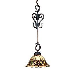 ELK Lighting Buckingham Tiffany 25-Inch 1-Light Pendant in Vintage Antique