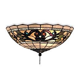 ELK Lighting Buckingham Tiffany Ceiling Fan/Light Kit