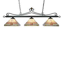 Landmark Lighting Tiffany 3-Light Island/Billiard Light insquare Shades
