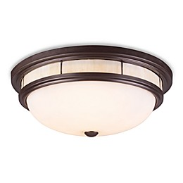 ELK Lighting Flushes 3-Light Flush Mount in Oiled Bronze w/Cream Glass