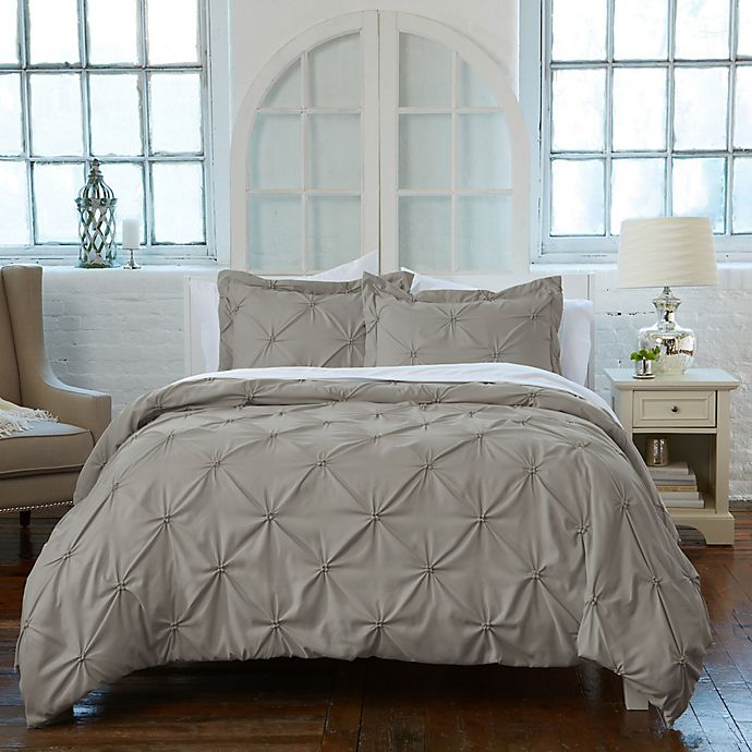 Alternate image 1 for Analia Twin Duvet Cover Set in Grey
