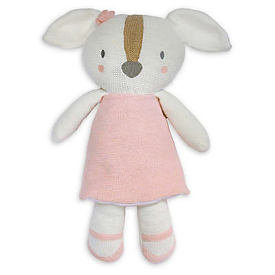 Living Textiles Ms. Rory Puppy Knitted Plush Toy in Pink