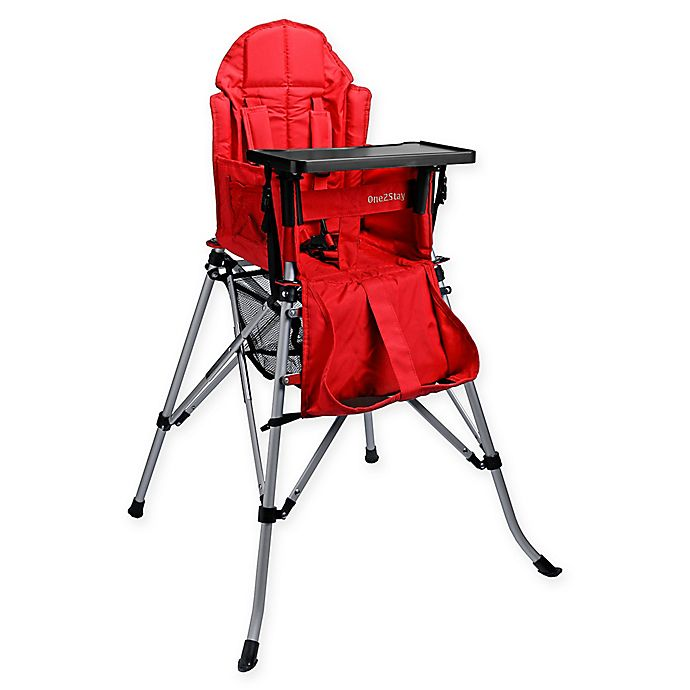 Alternate image 1 for One2Stay Portable Highchair in Red