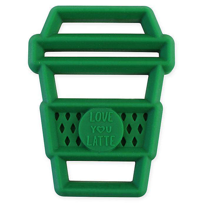 Alternate image 1 for Itzy Ritzy® Silicone Latte Teether in Green