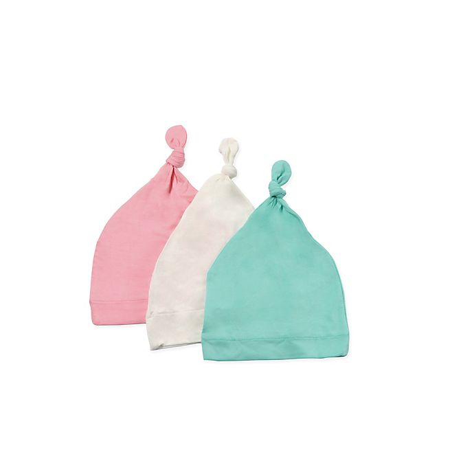 Alternate image 1 for Kyte BABY 3-Pack Knotted Cap in Cloud, Petal, and Aqua