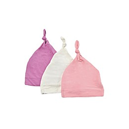 Kyte BABY 3-Pack Knotted Cap in Blossom, Petal, and Cloud