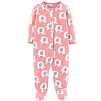 carter's® Newborn Elephant Fleece Coverall in Pink