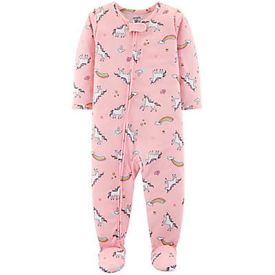 carter's® Unicorn Long Sleeve Footed Pajama in Pink
